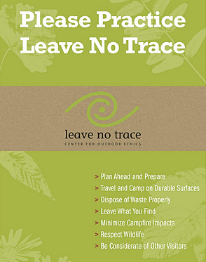 Leave no trace wilderness survival