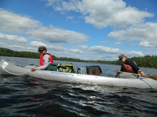 Outward Bound instructor with student