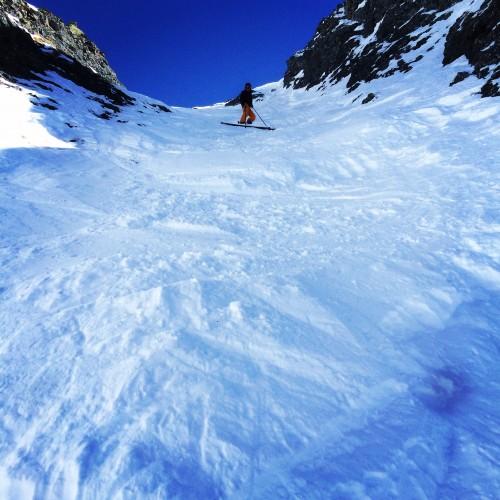 Outward Bound Instructor, Emily Durkin skiing