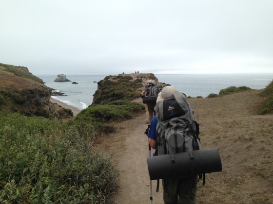 California coast backpacking