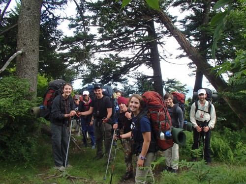 At-Risk youth backpacking with Outward Bound