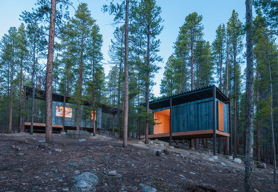 New Instructor cabins at the Colorado Outward Bound School basecamp.