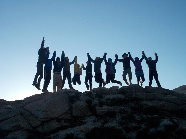 Outward Bound Group Seeking the Summit