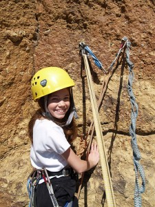 Rock climbing with Outward Bound