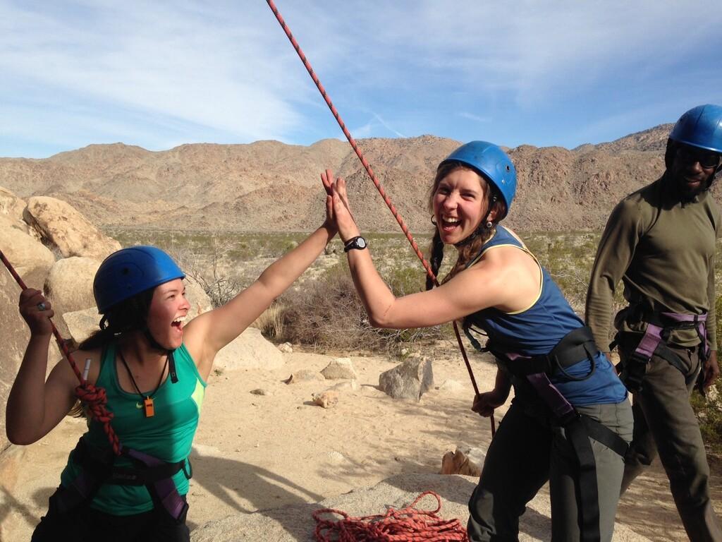 group trips, rock climbing in Joshua Tree