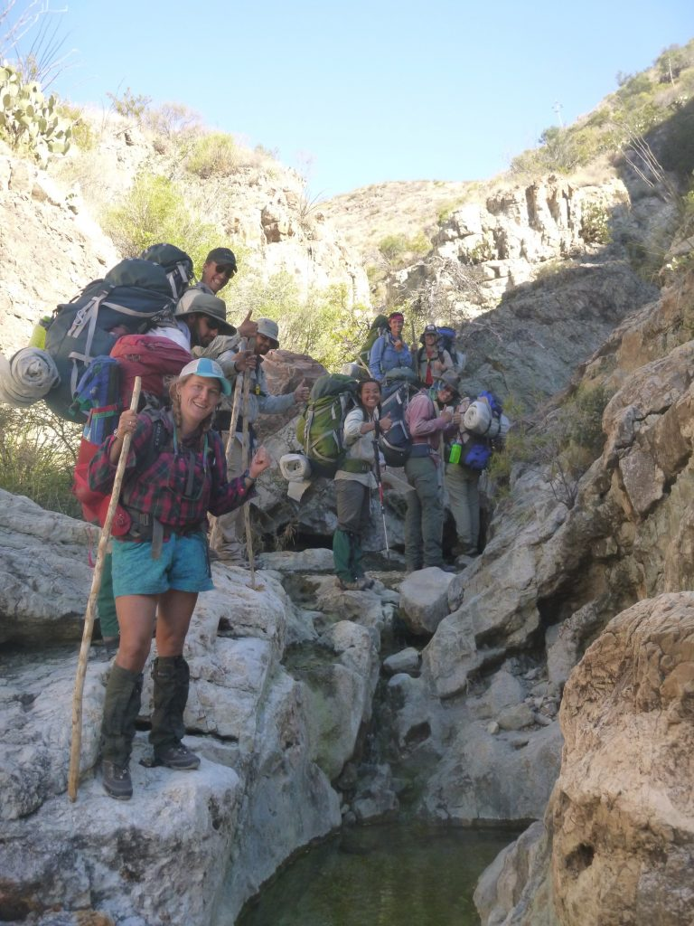 Photo taken on a Texas Big Bend Outdoor Educator course.