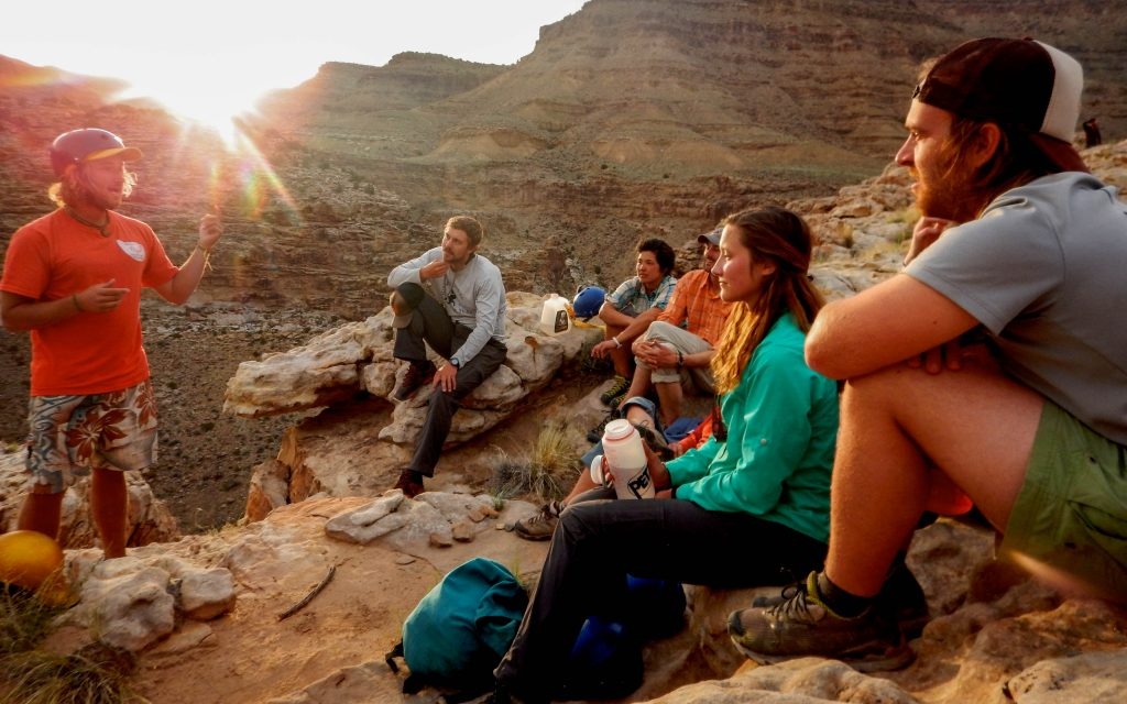 Photo taken on a Southwest Backpacking & Rock Climbing Outdoor Educator by Kelly Crandall.