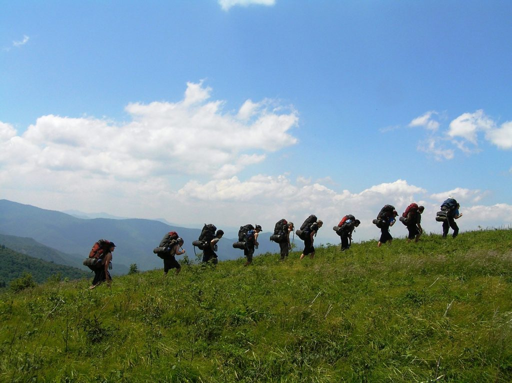 Photo taken on a Blue Ridge Mountains Backpacking & Rock Climbing for Adults expedition.