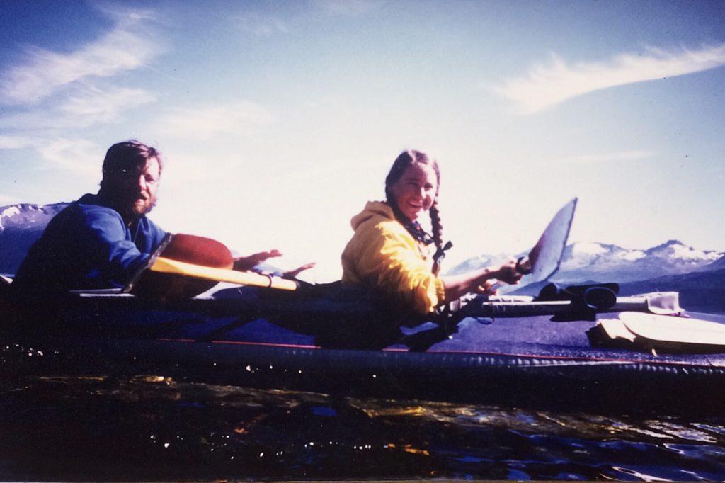 Cate and Dan in their kayak. A love story.