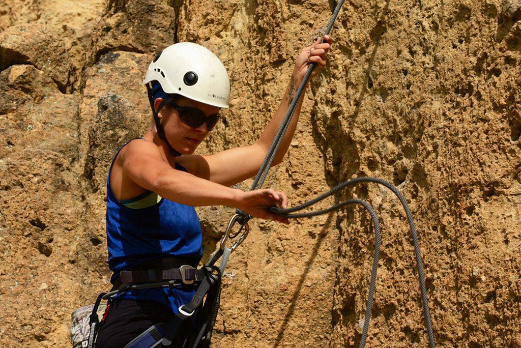 Photo taken on an Oregon Smith Rock Climbing & Yoga for Women expedition.