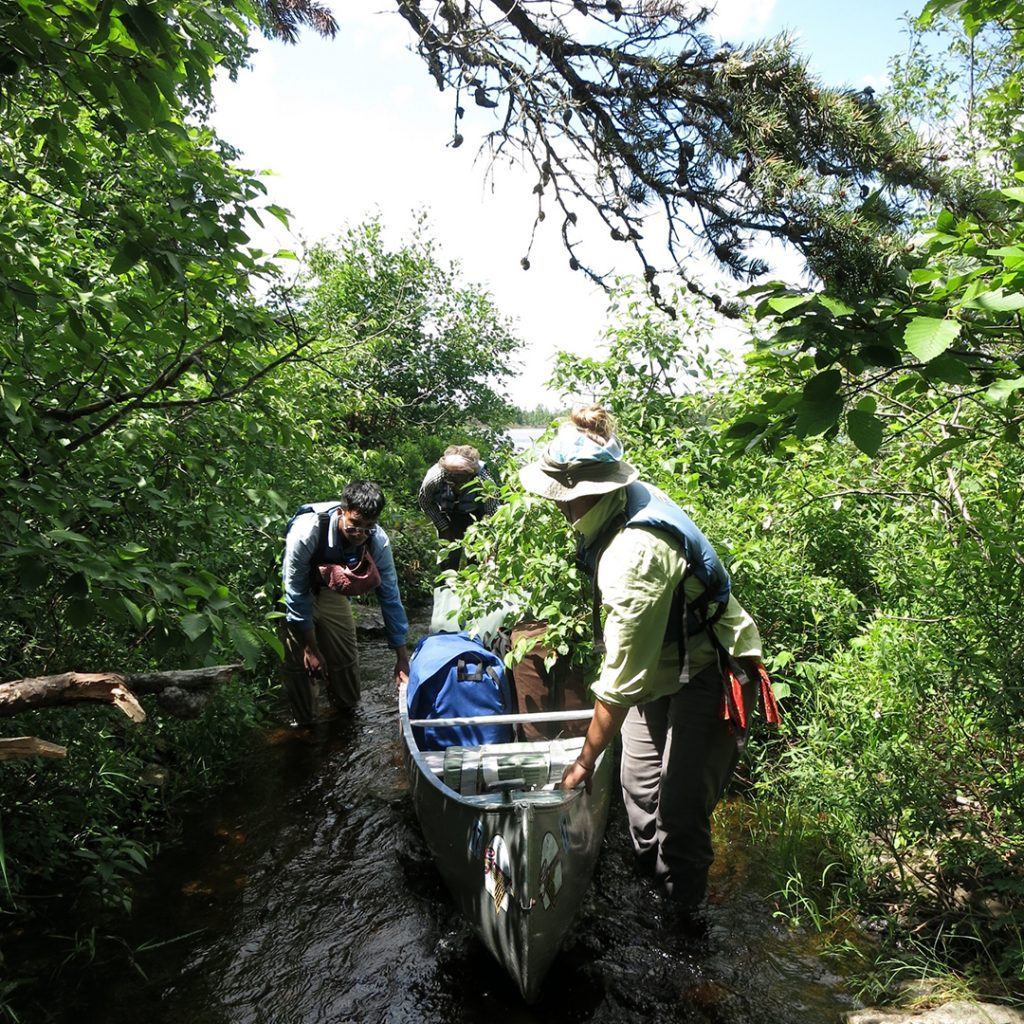 Photo taken on an Intercept Boundary Waters Canoeing expedition.