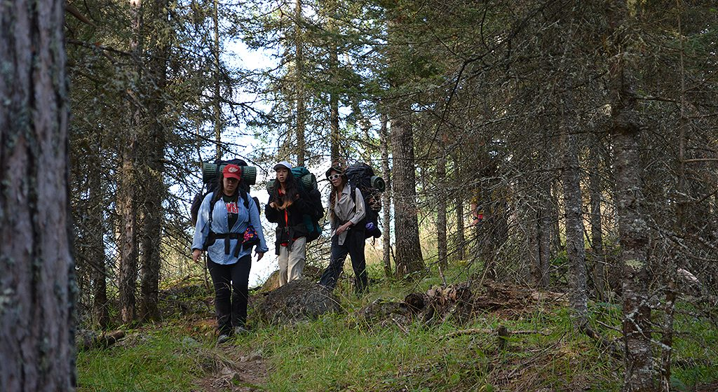 Hiking on an Outward Bound Course
