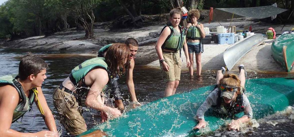 Outdoor play on an Outward Bound expedition