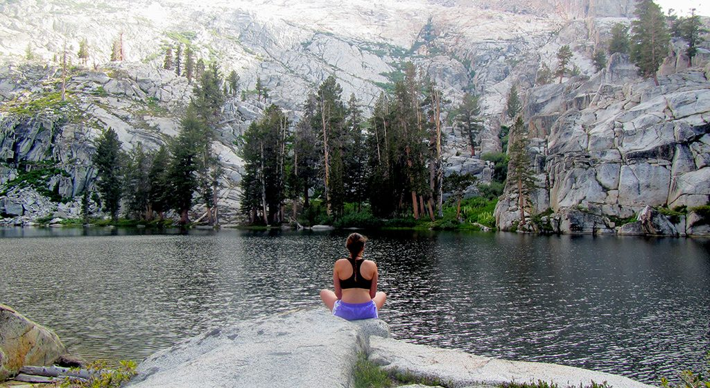 Photo was taken on a High Sierra Alpine Backpacking & Rock Climbing expedition.