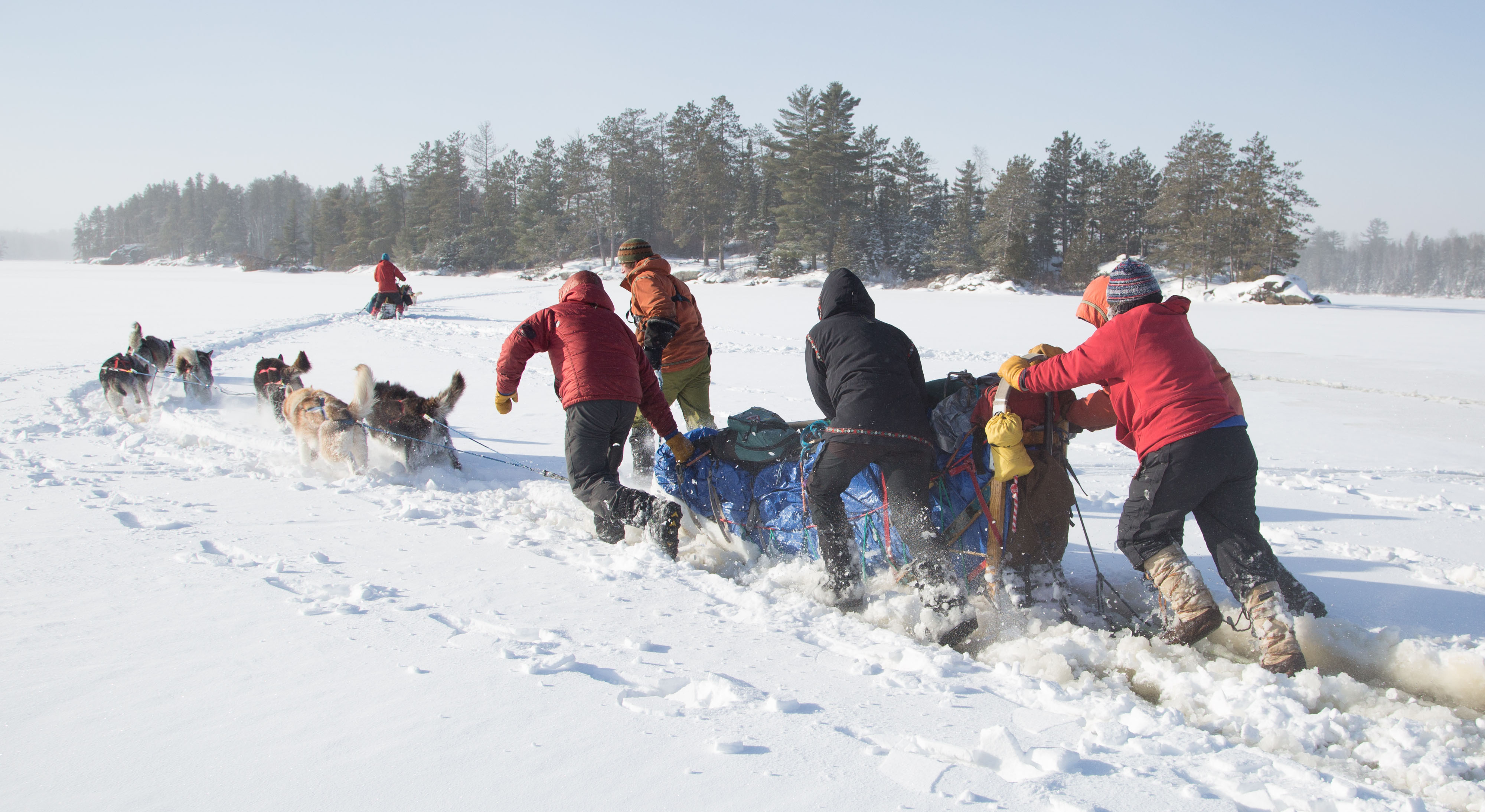 boundary waters dog sledding cross country skiing outward bound