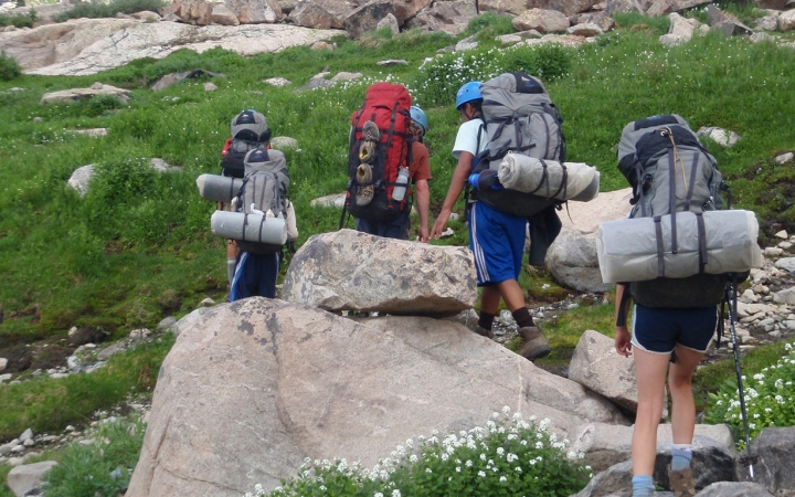 teen backpacking trips