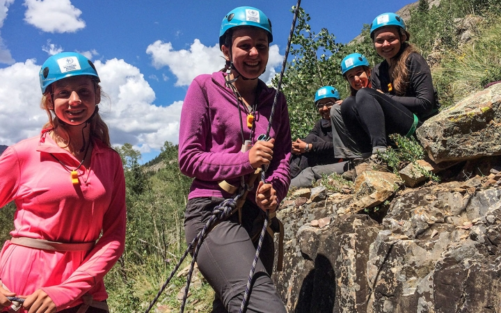 rock climbing and leadership semester