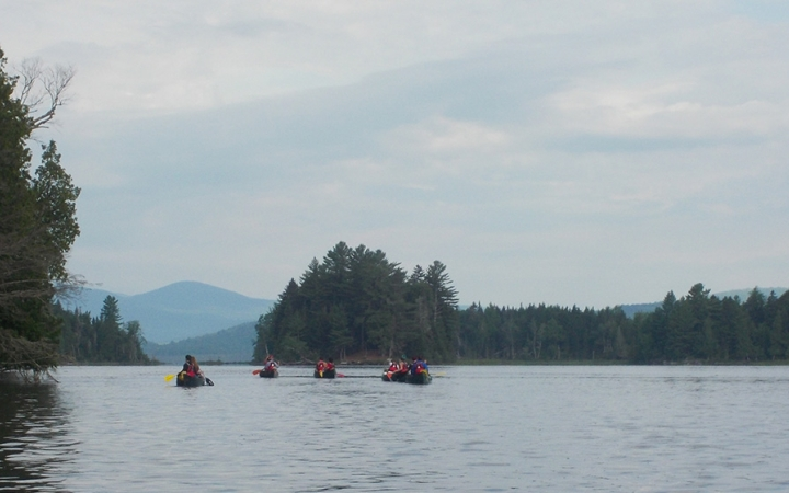 canoeing trip for teens
