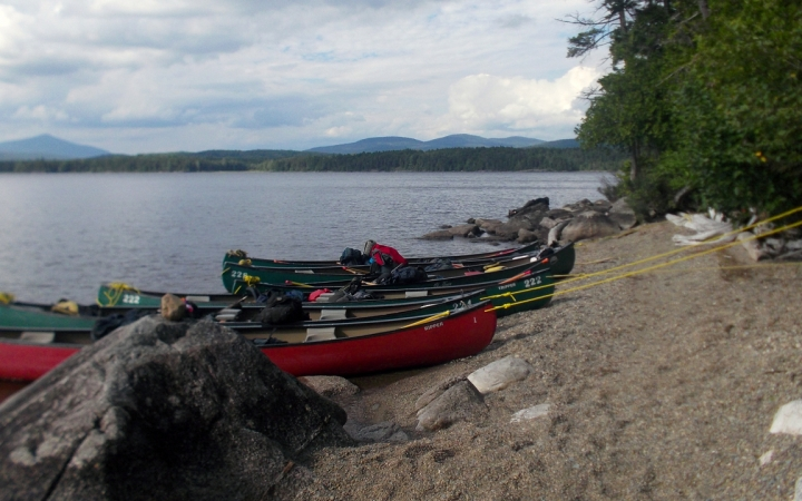 learn to canoe in Maine