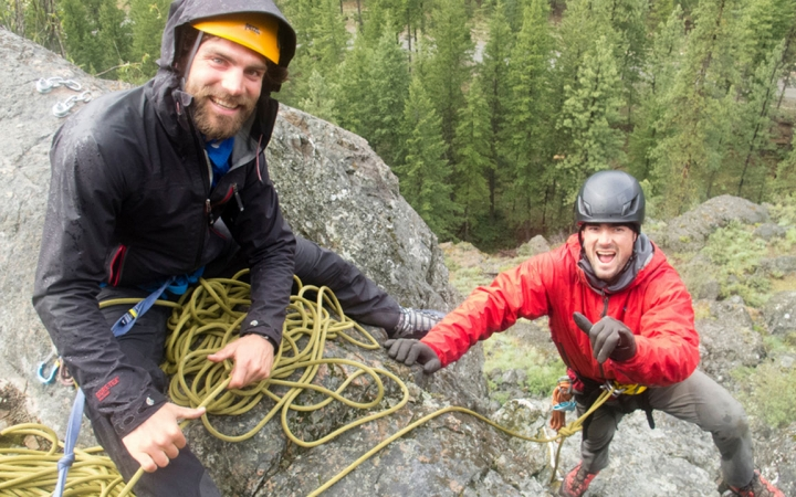 rock climbing and instructor training