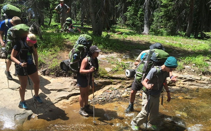 Backpacking trip for adults