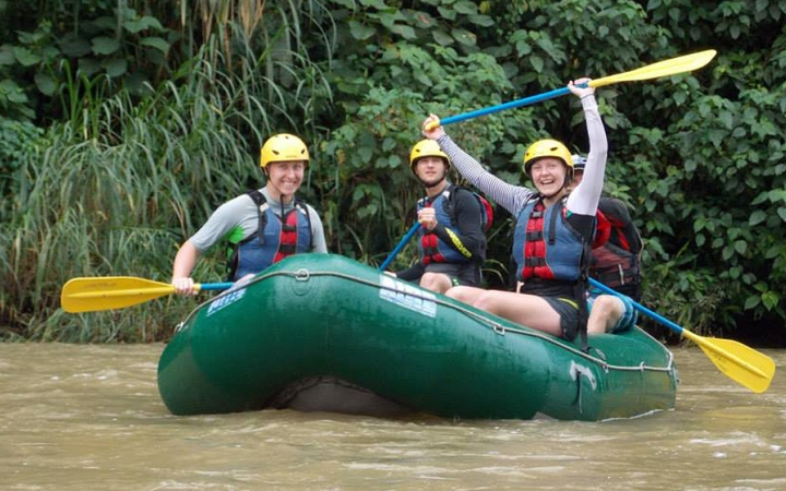 students learn whitewater skills