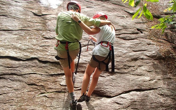 rock climbing for families