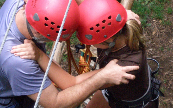 guided family rock climbing