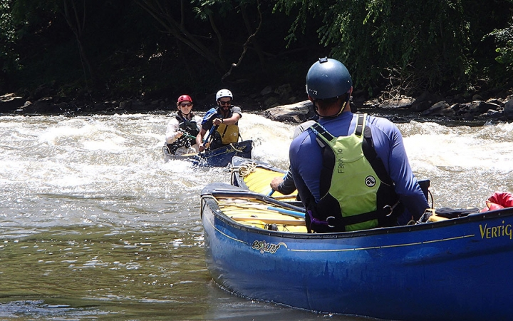 whitewater canoeing