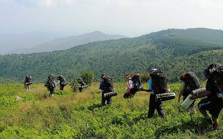 backpacking trip on outdoor leadership course