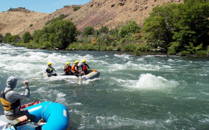 rafting instruction on outdoor leadership course