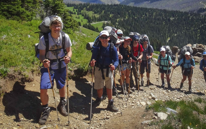 guided alpine backpacking trip