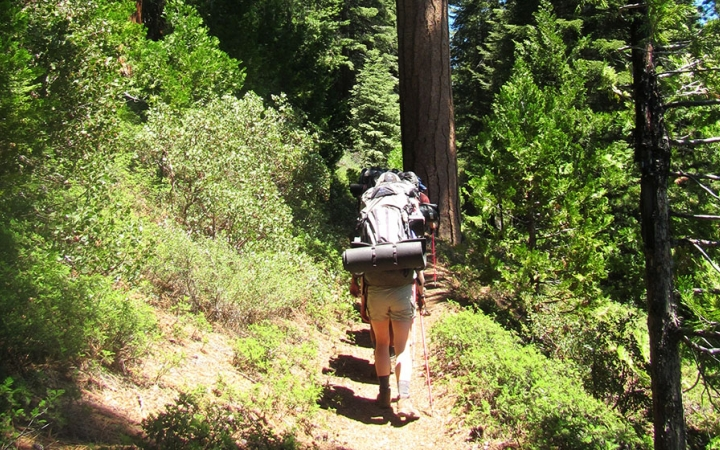 backpacking trip in California