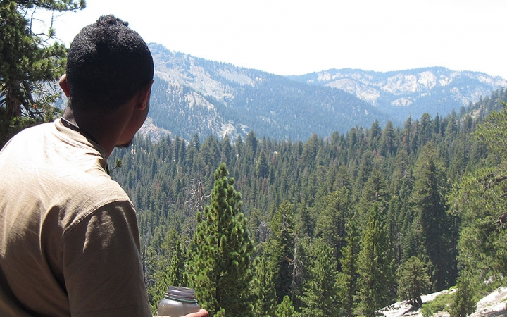 High Sierra backpacking trip for young adults
