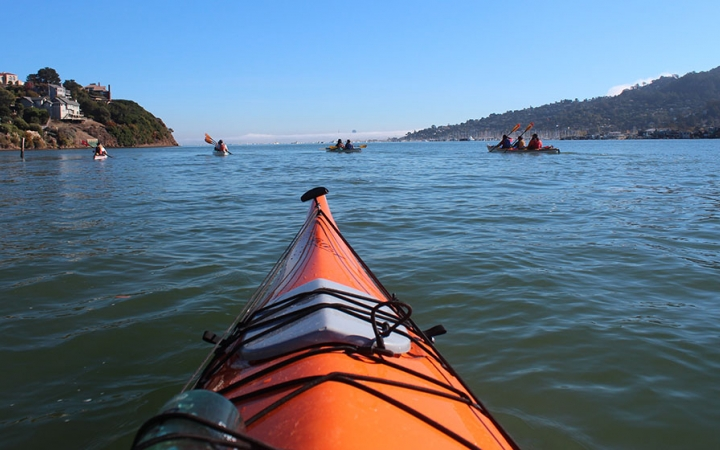 sea kayaking trip in California