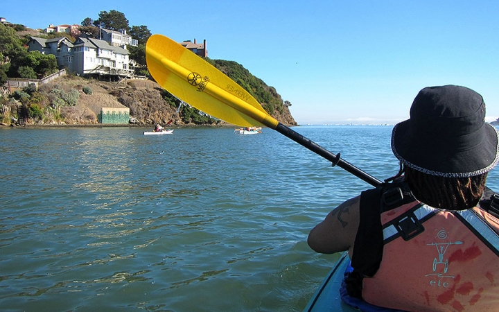 sea kayaking in California