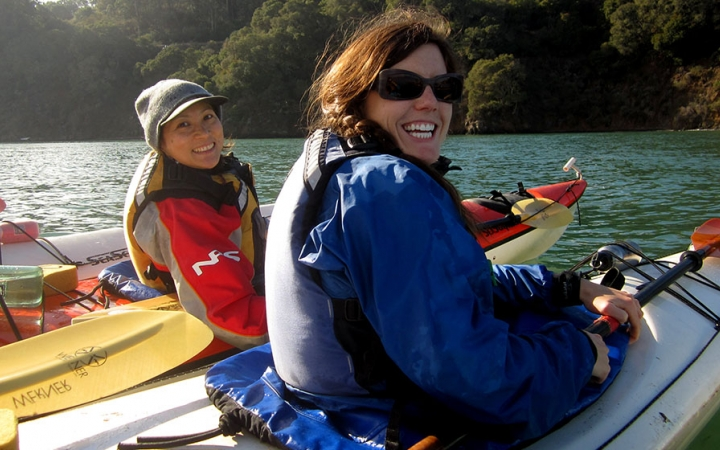 sea kayaking course in California