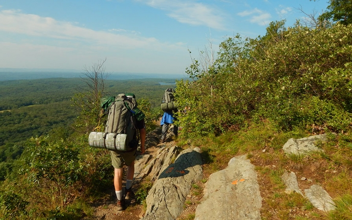 backpacking trip in the Delaware Water Gap