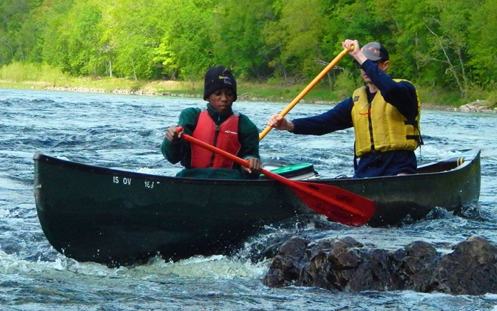 canoeing for teens