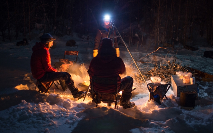 guided winter camping