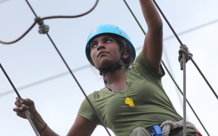 Rock climbing and rope courses