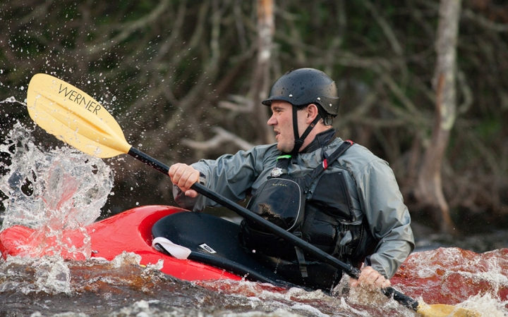 Whitewater kayaking in Canada