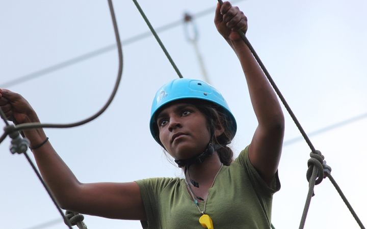 ropes course for at risk girls