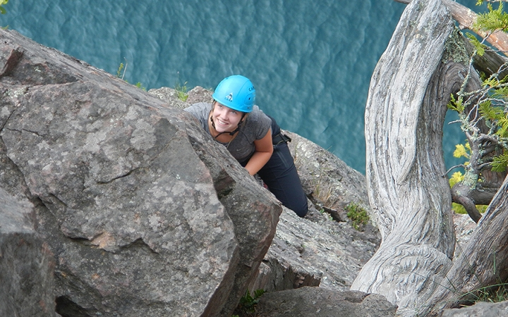 Rock Climbing Lake Superior