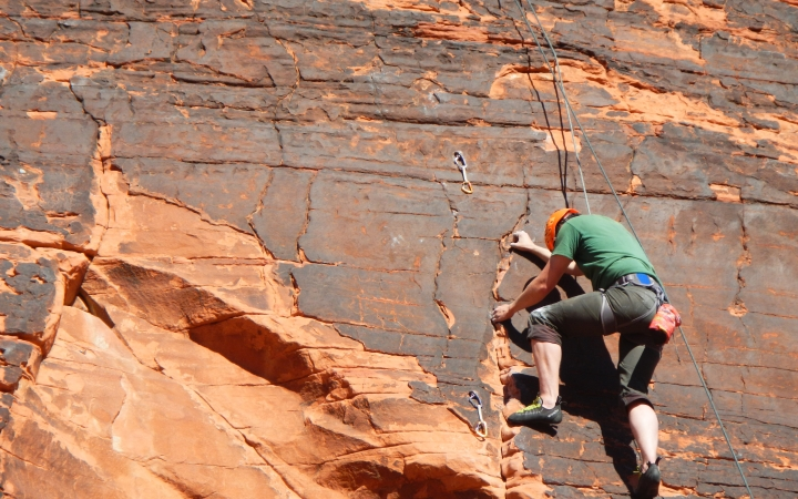 learn to rock climbing in big bend texas
