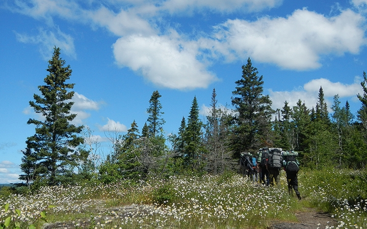 backpacking program on the superior hiking trail