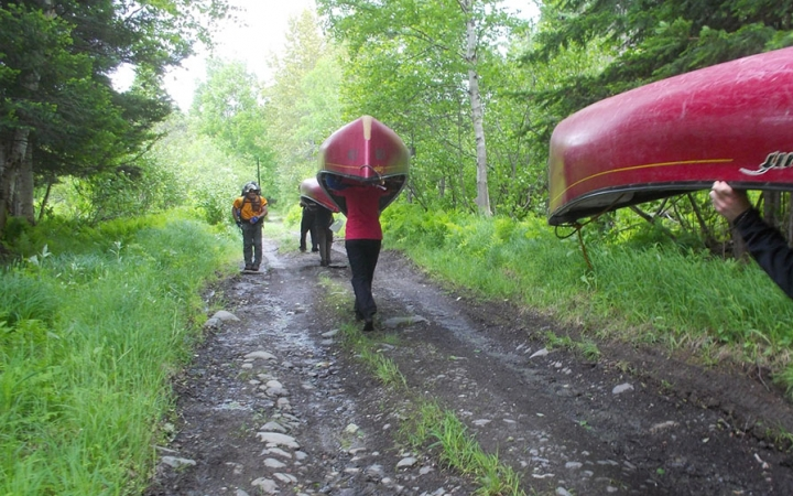 canoeing trip with outward bound
