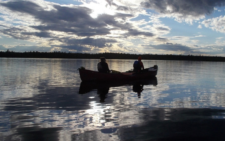 canoeing camp for teens in maine