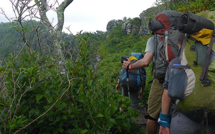 Backpacking and rock climbing trips