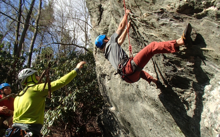 rock climbing trip for young adults in north carolina